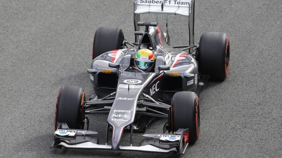 Esteban Gutierrez, Sauber, Jerez, 2014