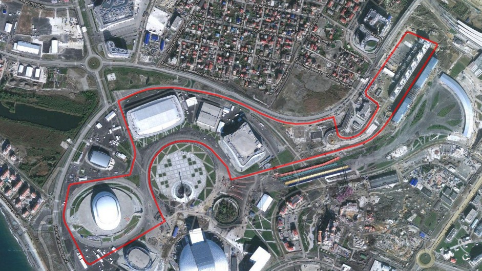 Satellite image shows Russian GP track taking shape