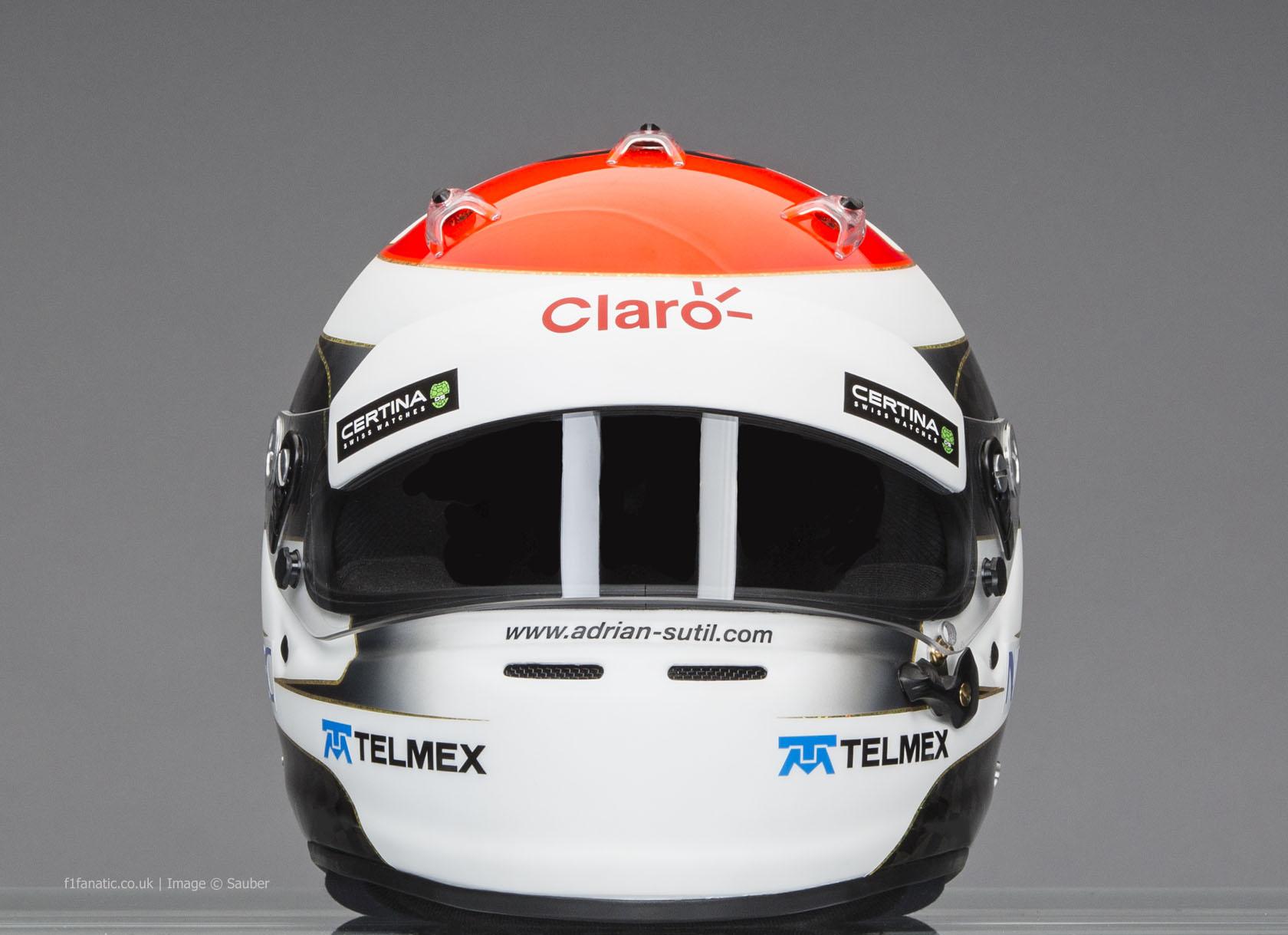 Adrian Sutil helmet, Sauber, 2014