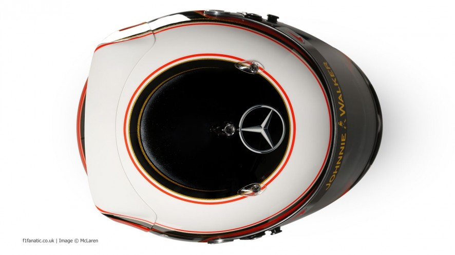 Stoffel Vandoorne helmet, McLaren, 2014
