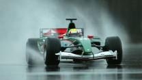 Mark Webber, Jaguar R5, Lommel, 2004
