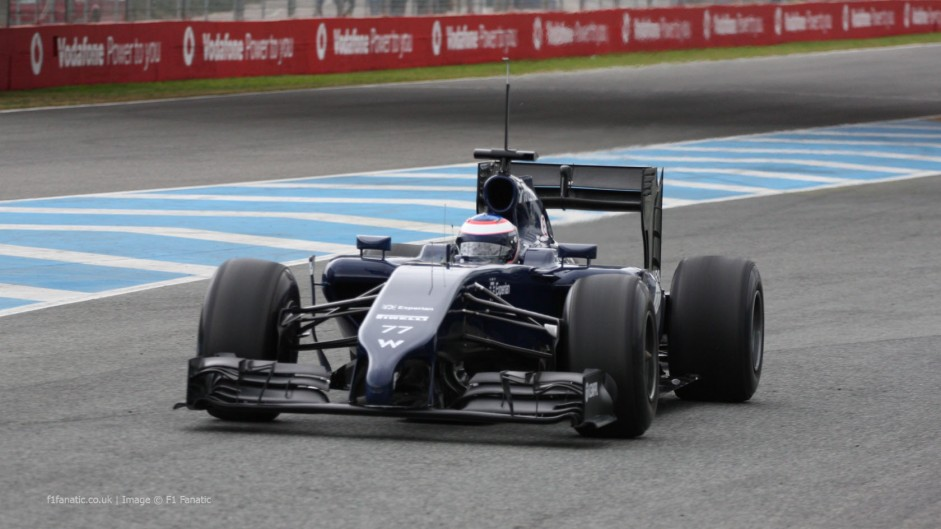 Williams FW36 runs for the first time at Jerez