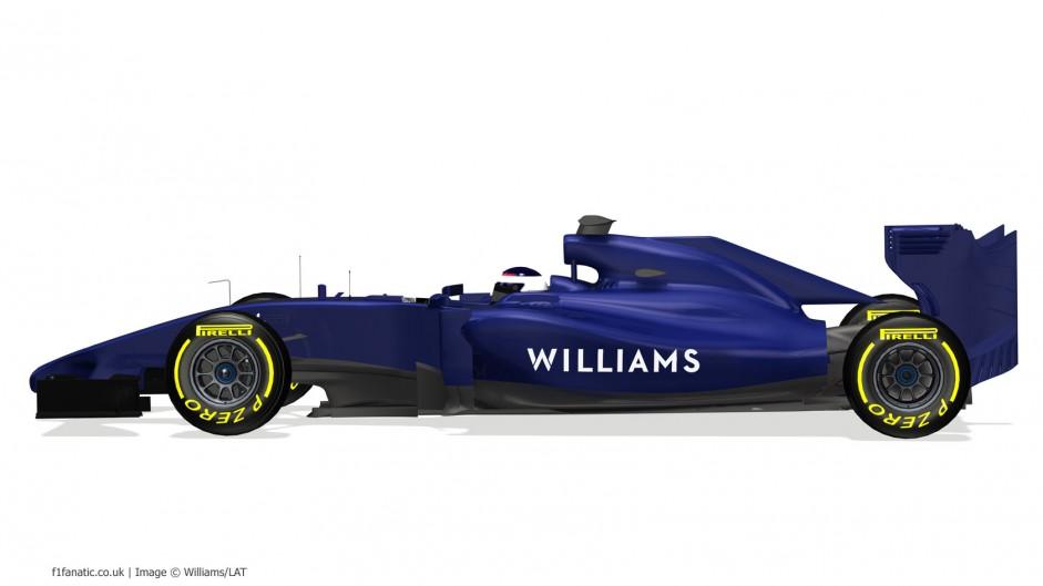 Williams FW36, side, 2014