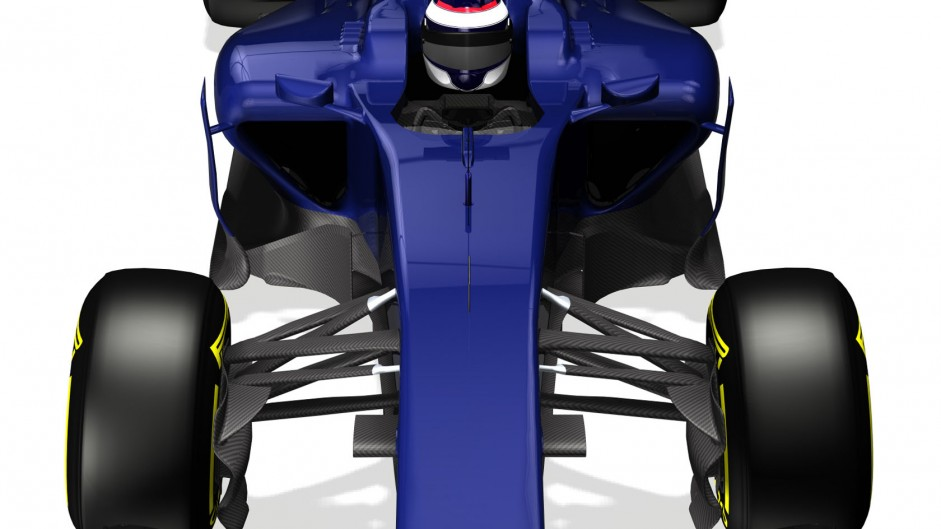 Williams FW36, front high, 2014