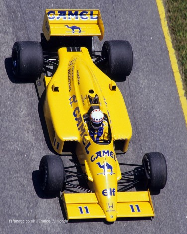 Satoru Nakajima, Lotus, 1987