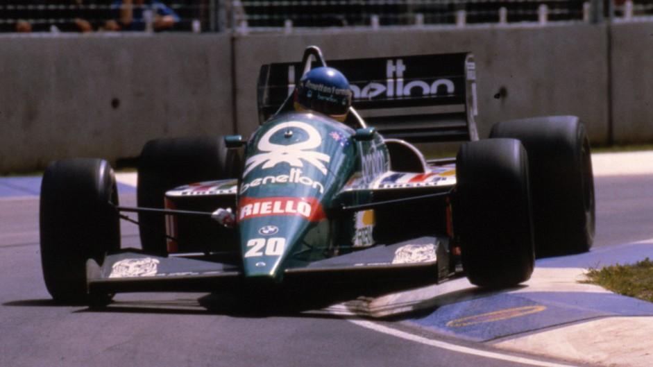 Gerhard Berger, Benetton, Adelaide, 1986