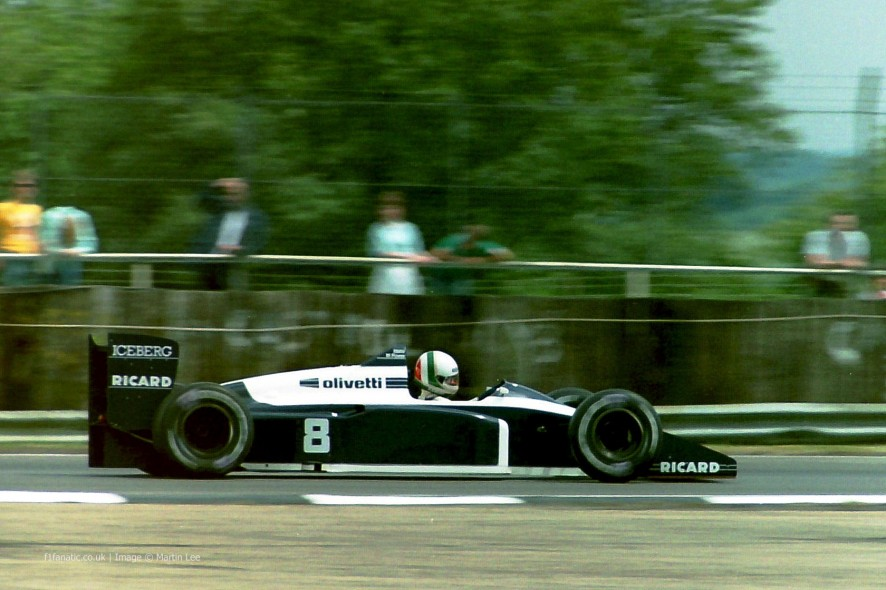 Andrea de Cesaris, Brabham, Silverstone, 1987