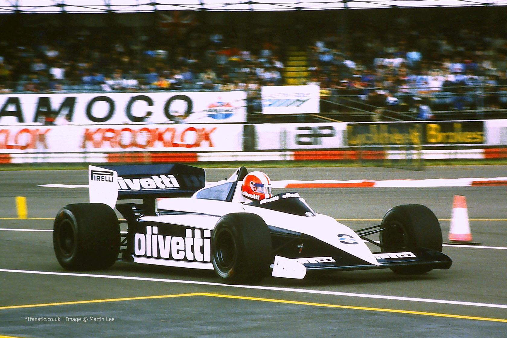 Marc Surer, Brabham, Silverstone, 1985