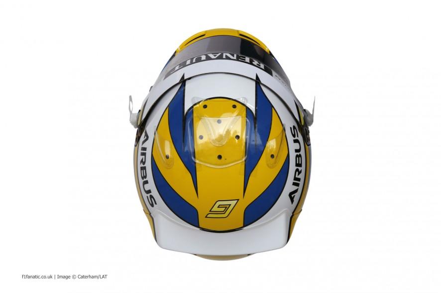 Marcus Ericsson helmet, Caterham, 2014