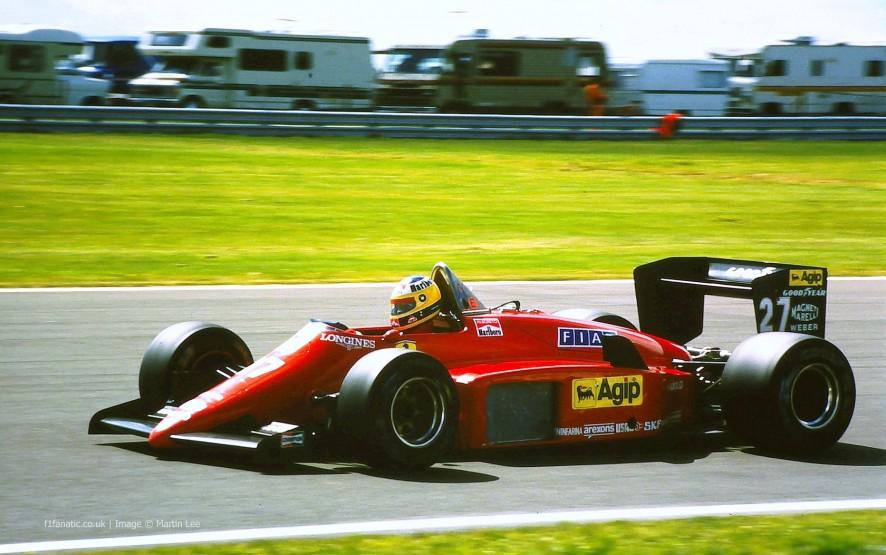 Michele Alboreto, Ferrari, Silverstone, 1985