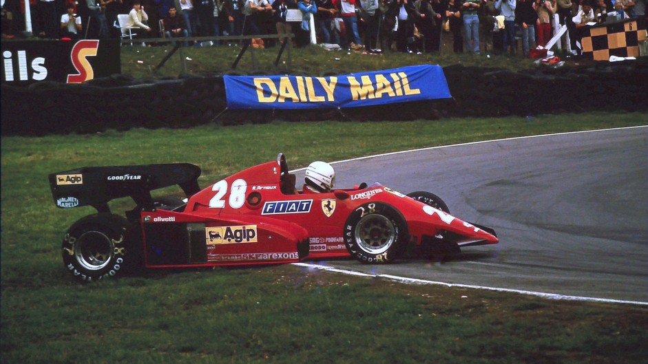 Rene Arnoux, Ferrari, Brands Hatch, 1983