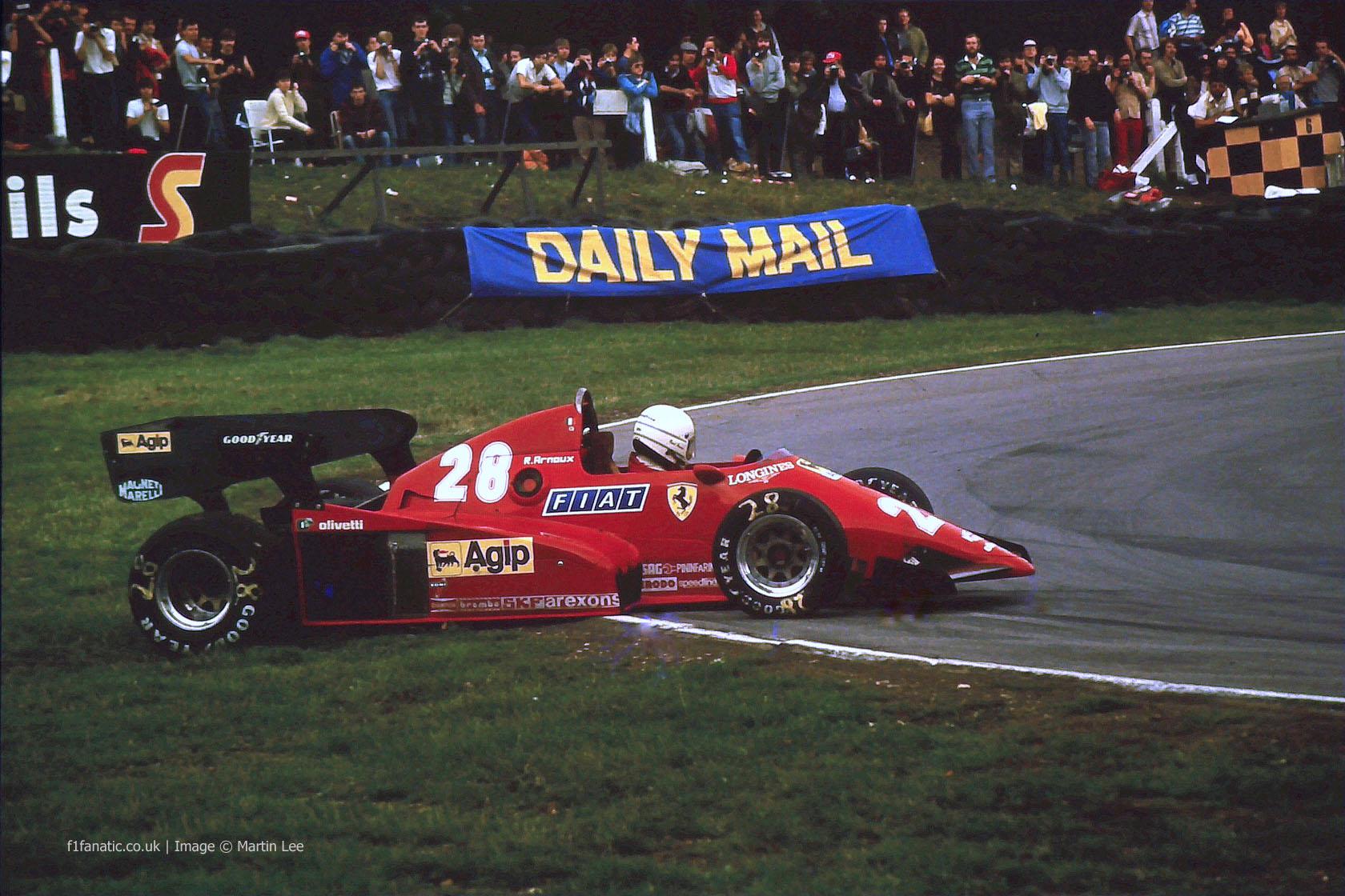 Rene Arnoux, Ferrari, Brands Hatch, 1983