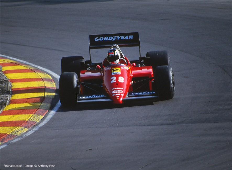Stefan Johansson, Ferrari, Brands Hatch, 1985