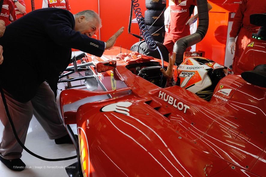 Piero Ferrari, Kimi Raikkonen, Ferrari, Bahrain, 2014