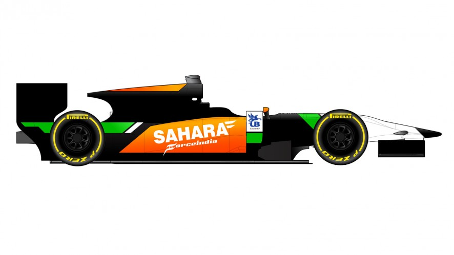 Force India GP2 car livery, 2014