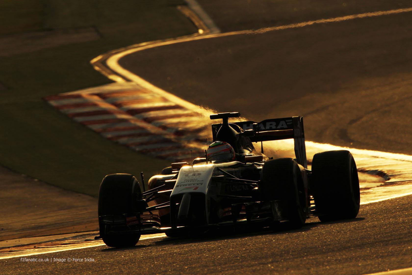 Sergio Perez, Force India, Bahrain, 2014