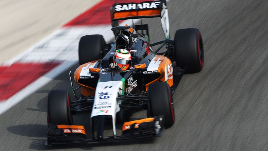 Sergio Perez, Force India, Bahrain, 2014