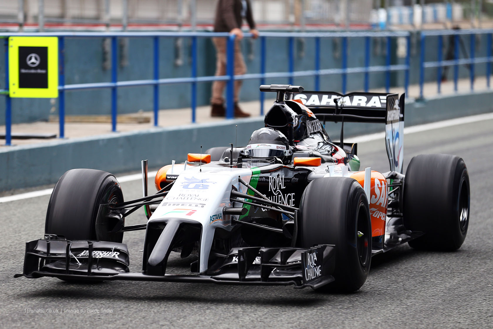 Sergio Perez, Force India, Jerez, 2014