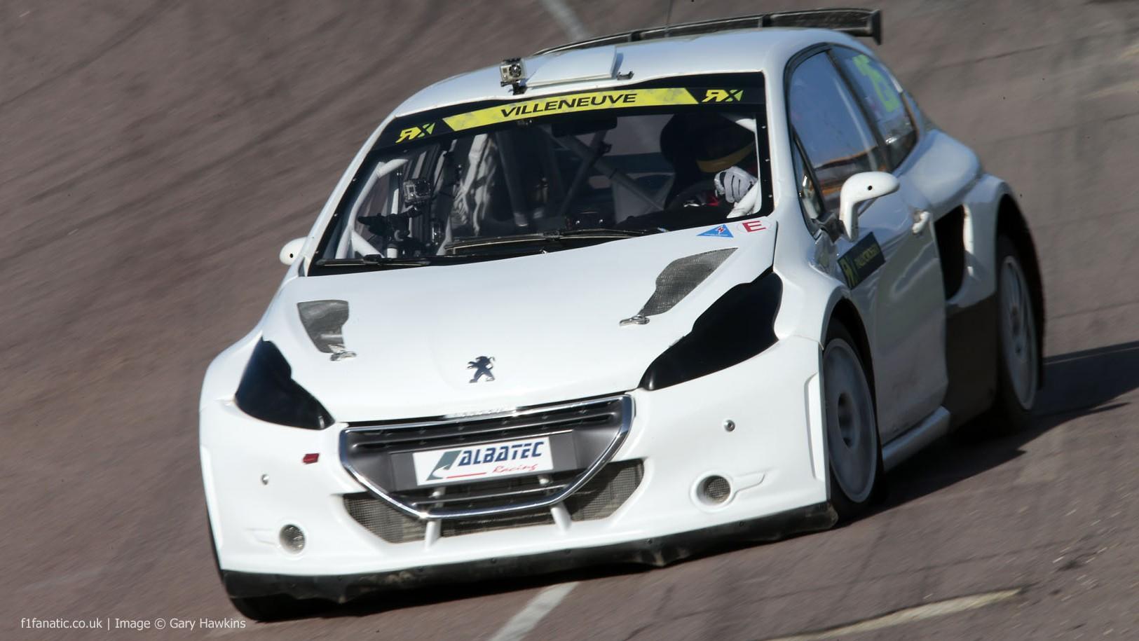 Jacques Villeneuve, Albatec Peugeot 208, Lydden Hill, 2014