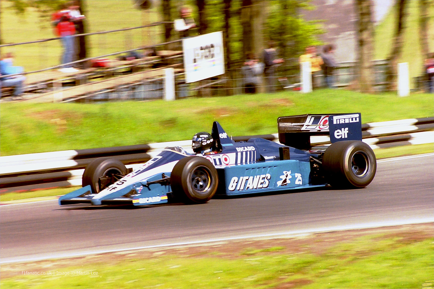 Jacques Laffite, Ligier, Brands Hatch, 1986