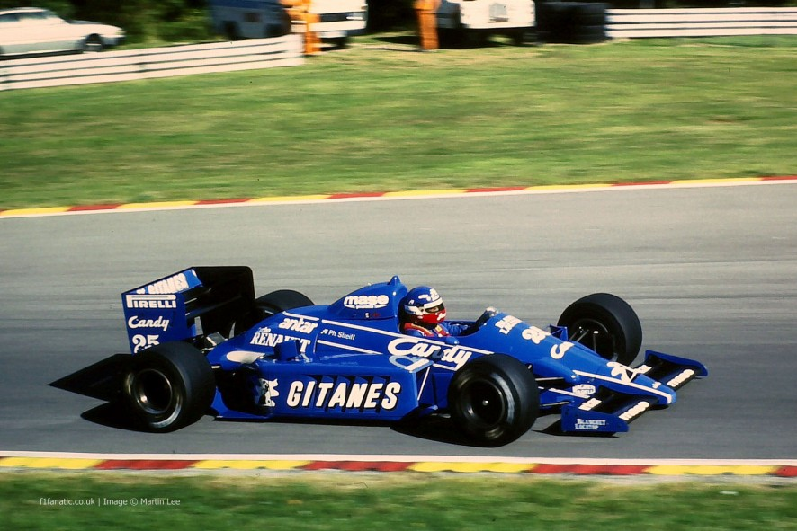 Philippe Streiff, Ligier, Brands Hatch, 1985