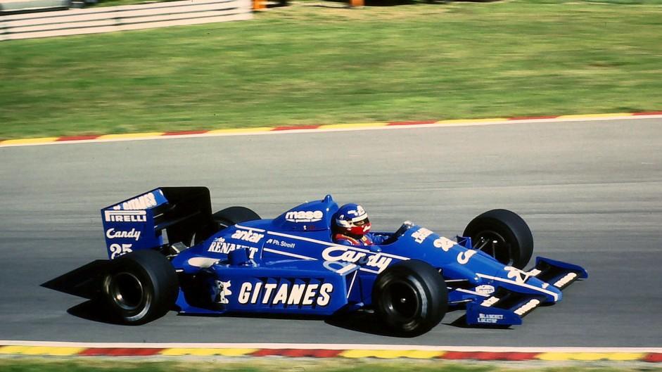 Philippe Streiff, Ligier, Brands Hatch, 1985