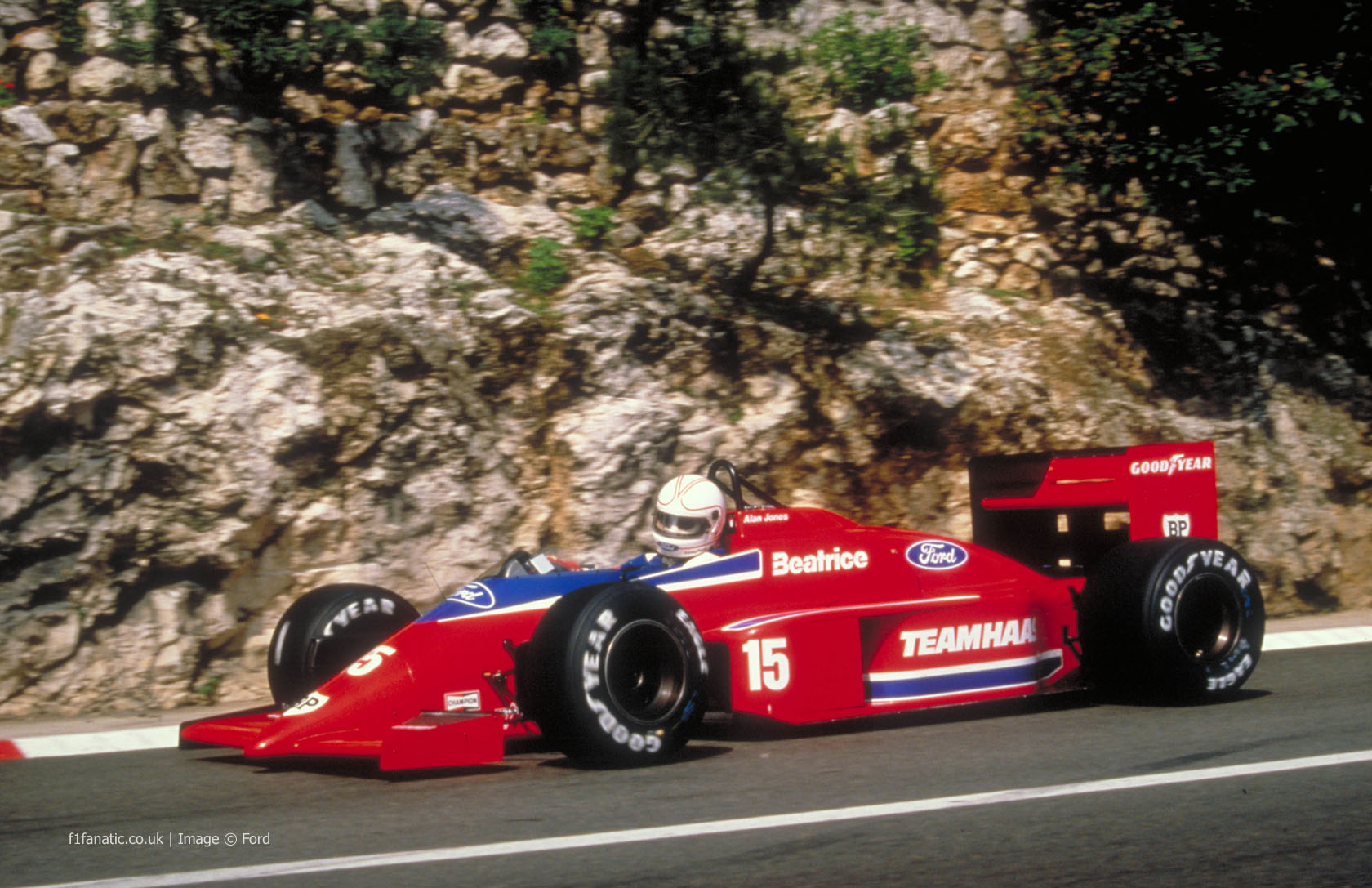Alan Jones, Lola-Ford, Monaco, 1986