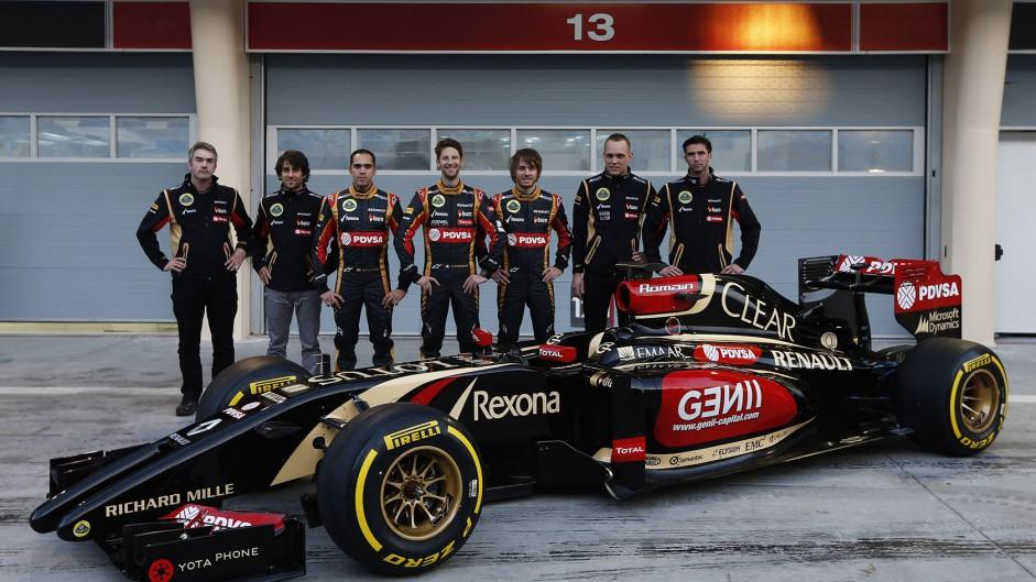 Lotus E22 presentation, Bahrain, 2014