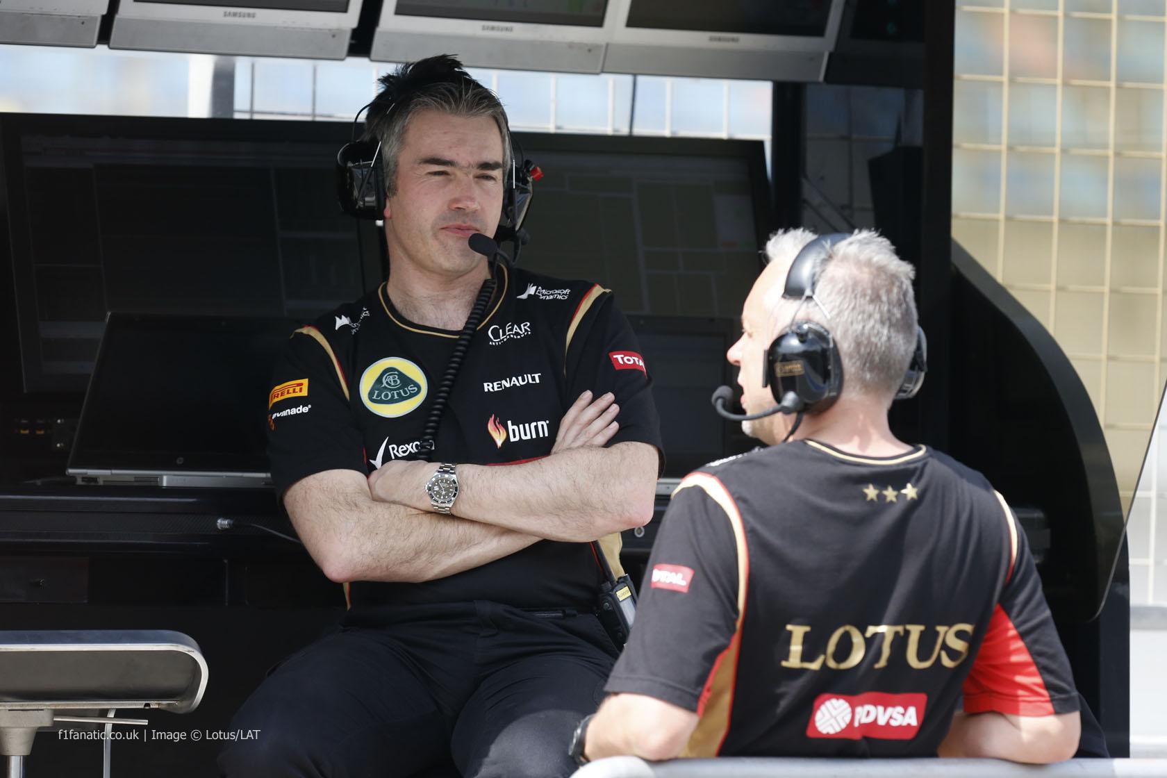 Nick Chester, Paul Seaby, Lotus, Bahrain, 2014
