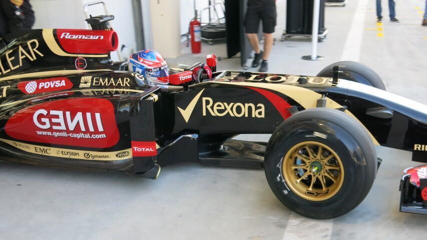 Romain Grosjean, Lotus E22, Bahrain, 2014