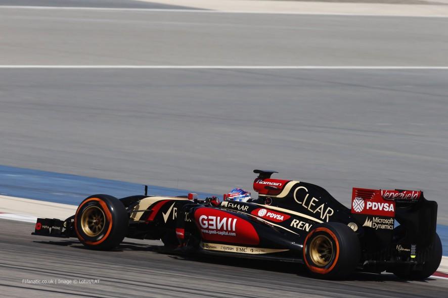 Romain Grosjean, Lotus, Bahrain, 2014