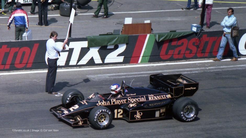 Nigel Mansell, Lotus, Zolder, 1984