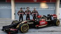Charles Pic, Romain Grosjean, Pastor Maldonado, Lotus, Bahrain, 2014