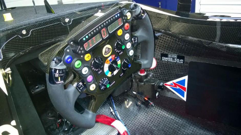 Lotus E22 steering wheel, 2014