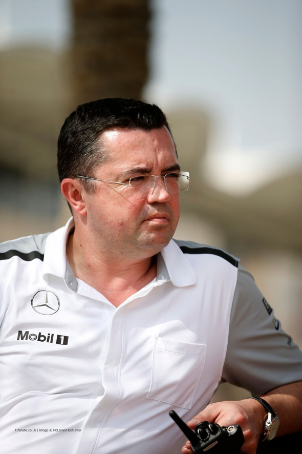 Eric Boullier, McLaren, Bahrain, 2014