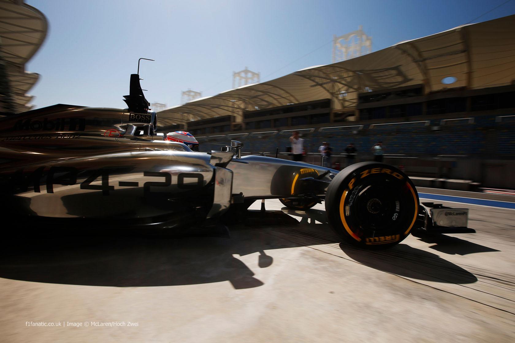 Jenson Button, McLaren, Bahrain, 2014