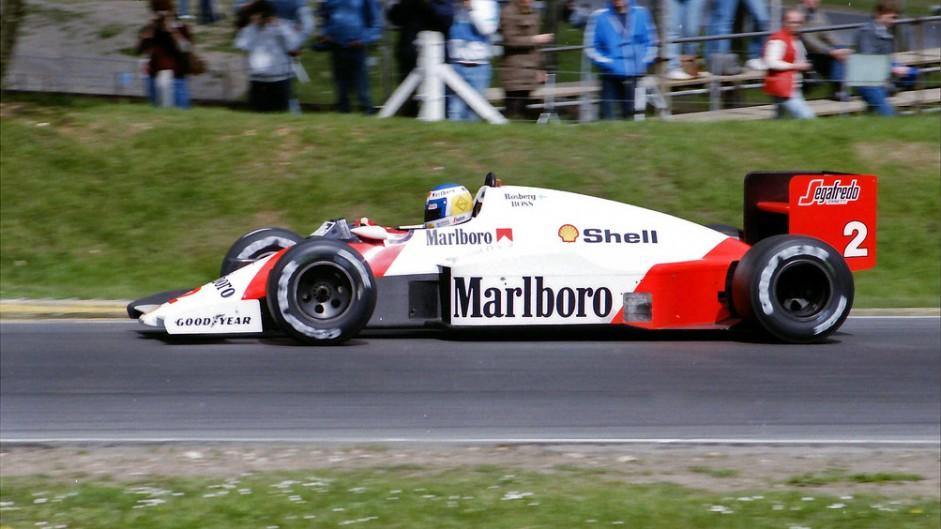 Keke Rosberg, McLaren, Brands Hatch, 1986