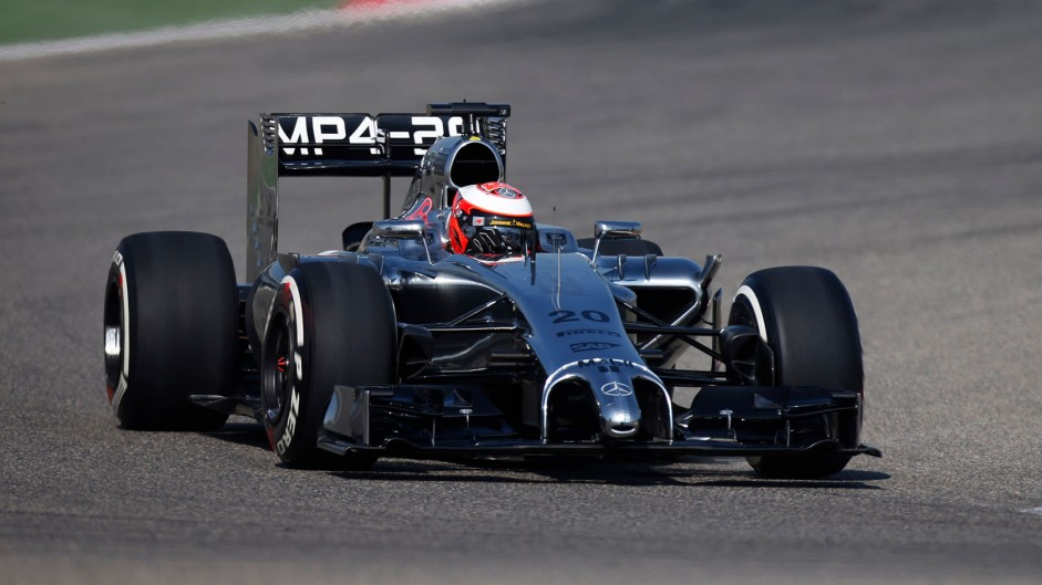 Magnussen leads day two in Bahrain as lap times fall