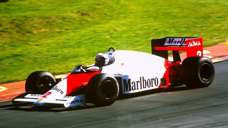 Alain Prost, McLaren, Brands Hatch, 1985