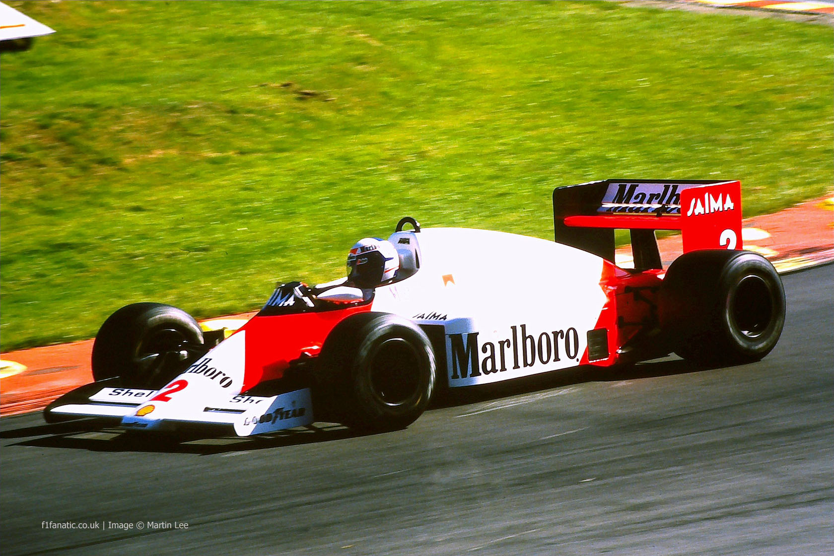 Alain Prost, McLaren, Brands Hatch, 1985