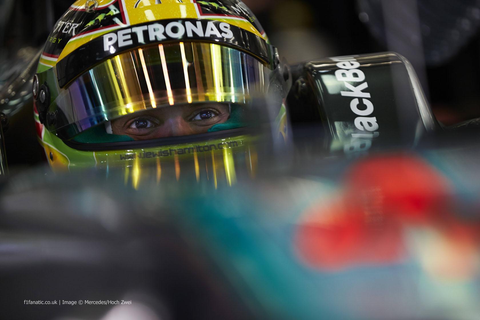Lewis Hamilton, Mercedes, Bahrain, 2014