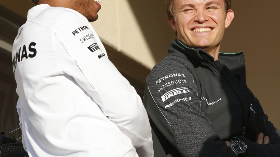 Lewis Hamilton, Nico Rosberg, Mercedes, Bahrain, 2014