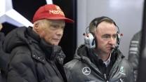 Niki Lauda, Paddy Lowe, Mercedes, Jerez, 2014