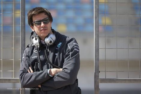 Toto Wolff, Mercedes, Bahrain, 2014