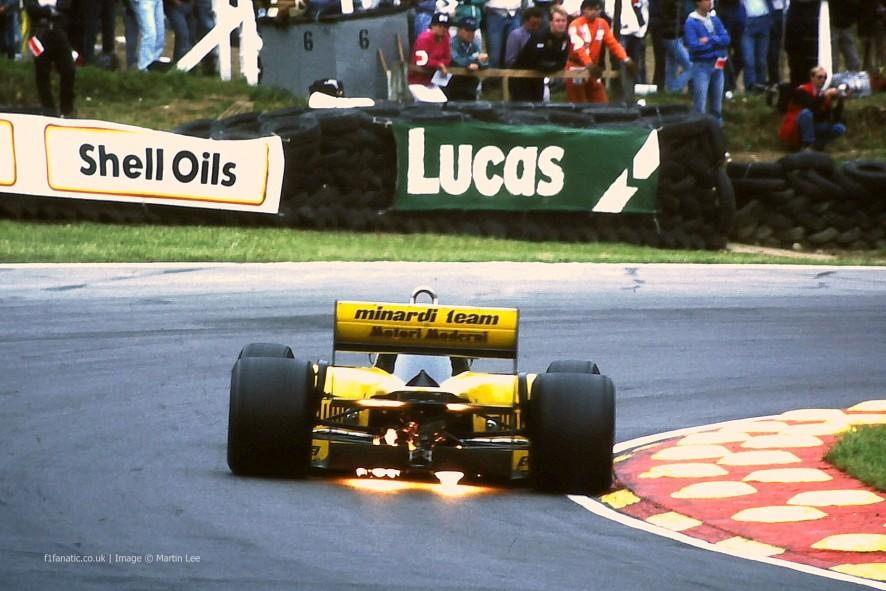 Minardi, Brands Hatch, 1986