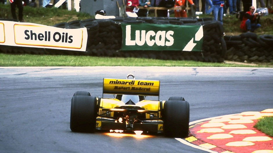 Minardi, Brands Hatch, 1986