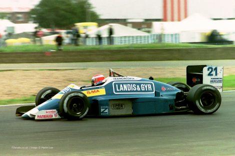 Alex Caffi, Osella, Silverstone, 1987