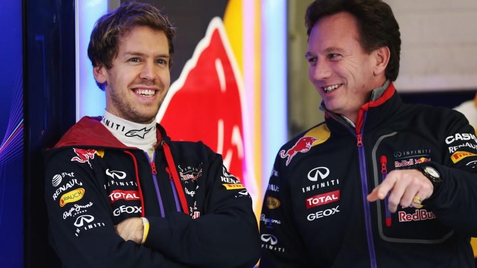 Sebastian Vettel, Christian Horner, Red Bull, Jerez, 2014