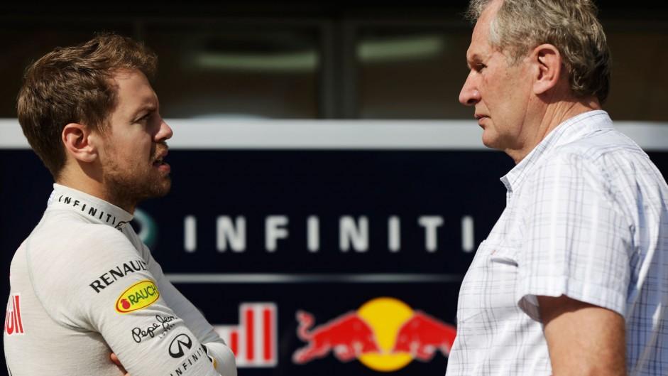 Sebastian Vettel, Helmut Marko, Red Bull, Bahrain, 2014