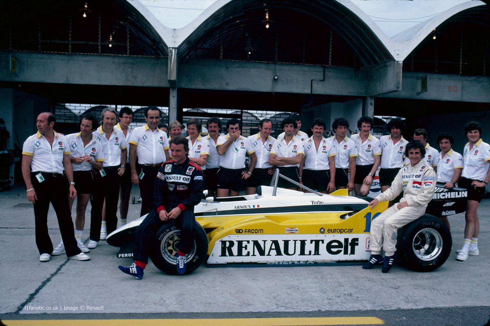 Rene Arnuox, Alain Prost, Renault, Monza, 1982